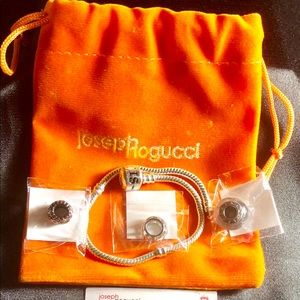 Joseph Nogucci bracelet with three charms